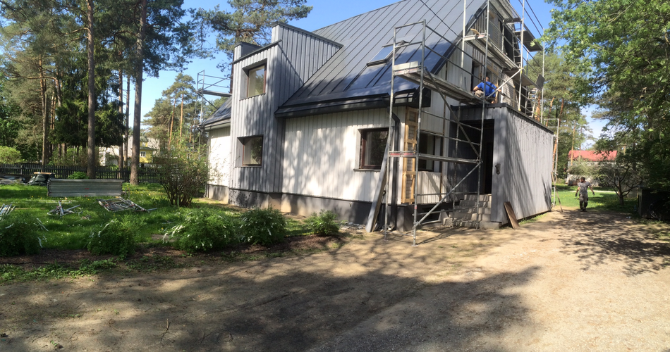 eramaja puifassaadi ehitus 1